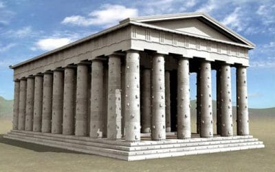 Αναπαράσταση του ύψους του ναού του Διός στη Στράτο