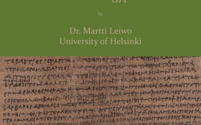Greek Language in Roman Egypt, Dr. Martti Leiwo (University of Helsinki), 15 October 2019 7pm (Athens)