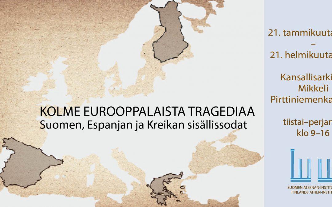 Kolme eurooppalaista tragediaa -näyttely Mikkelissä